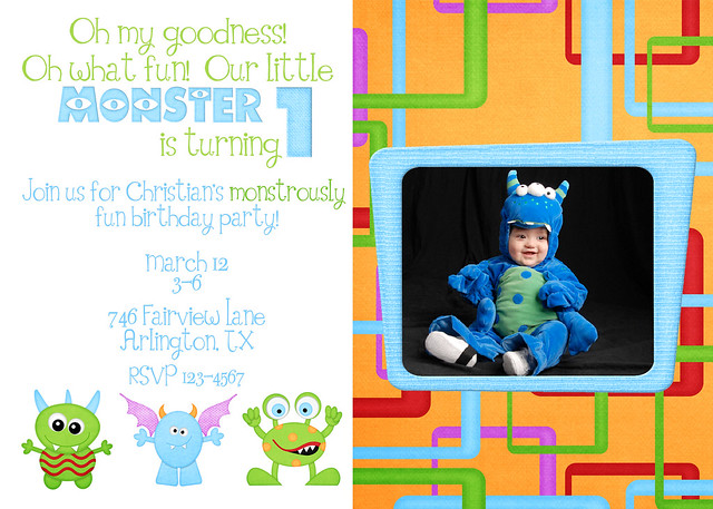 Ashly Monster Birthday web