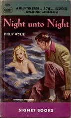 1950 - Signet 830 Mitchell Hooks (uk vintage) Tags: signet skinnydipping mitchellhooks philipwylie nightuntonight