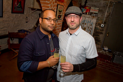 Guest Jose Mejia of Cool Hunting and Arik Torren of event sponsor Fidencio Mezcal.