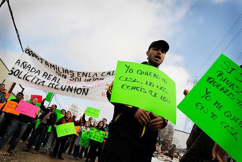 Manifestación de afectados por desalojos