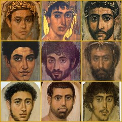 9 Guys From Fayum (Diogioscuro) Tags: portraits fdsflickrtoys mosaic egypt cuteguys diogioscuro