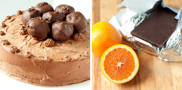 Chocolate Cake with Chocolate-Orange Buttercream