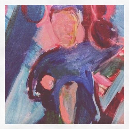 Pintura de Luisa Ritter sobre uma foto de infância do Gui