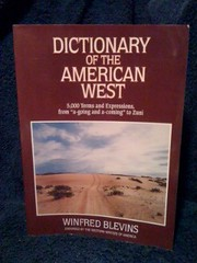 Image for Dictionary of the American West