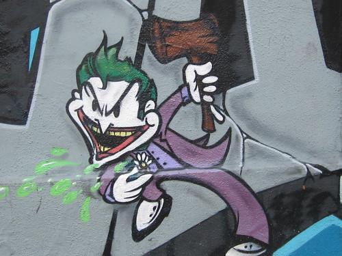 Street Art Mural: Joker