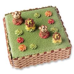 eckige Torte (der-ideen-shop.de) Tags: korbgeflecht tortendekoration zuckertiere
