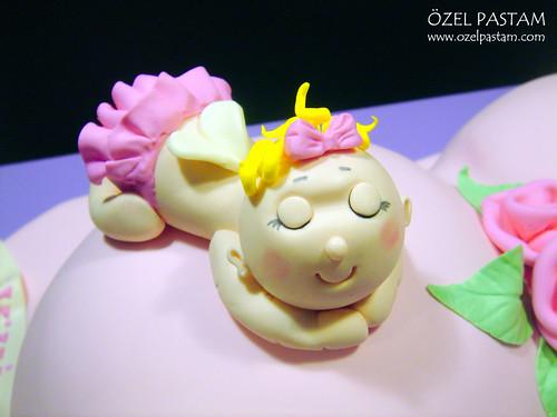 Kız Bebeğe Hamile Pasta / Pregrant Cake