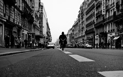 The Black Rider, Montparnasse - Paris (adde adesokan) Tags: street travel people blackandwhite bw white man black paris france men bike sign pen photography frankreich strasse streetphotography olympus du sw mann 20mm rue rider montparnasse weiss schwarz fahrrad rennes farid ep1 streetphotographer m43 mft mirrorless microfourthirds theblackstar mirrorlesscamera streettogs