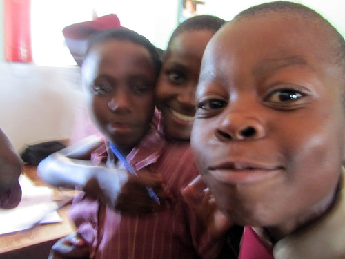 Students at the Chinotimba Primary School