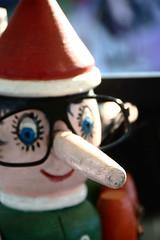 Carissimo Pinocchio (Niccolò Caranti) Tags: wood italy nose glasses italia dof market depthoffield trento flea pinocchio liar fuoco trentino lettera legno naso occhiali piazzadante mercatino gaudenti lungo usato profonditàdicampo oggetto pulci bugia bugiardo nikond40x dsc9884 carissimo