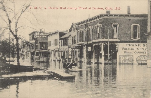 YMCA Rescue Boat, Dayton, OH - 1913 Flood
