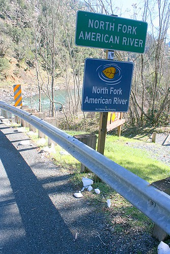 north fork american river signage