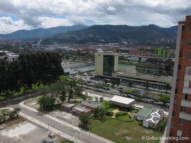 View of Medellin from bedroom window