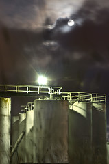 Fyshwick at night (photo obsessed) Tags: moon night australia oil canberra petrol act oceania australiancapitalterritory fyshwick industrialbuildings petroleumstoragetank