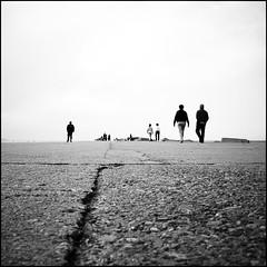 Go-On (B.e.l.i.v.o) Tags: light sky people blackandwhite bw beach monochrome square back ground figure someone minimalism greatphotographers flickraward