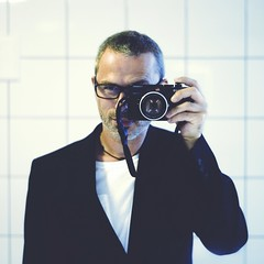 Long time no see (Christer Johansen) Tags: leica ltm selfportrait colour oslo norway canon bathroom 50mm mirror m8 12 selfie