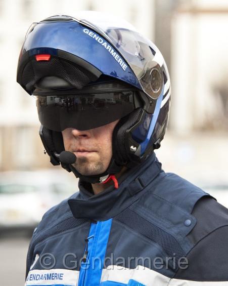 Casque moto gendarmerie