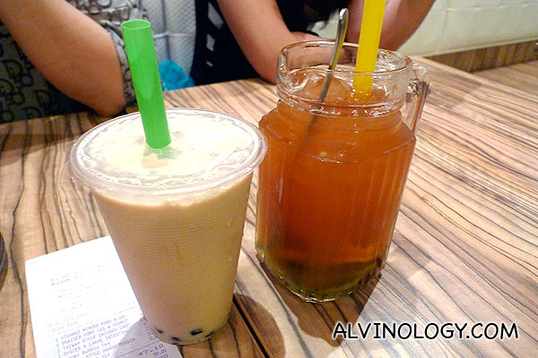 Bubble tea drinks