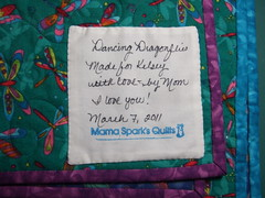 Label for Dragonfly Quilt
