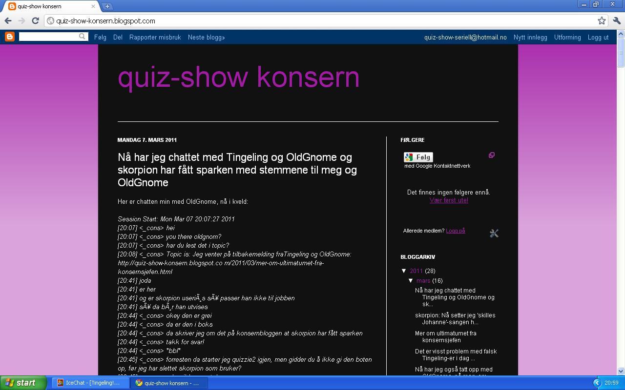 mer fra quiz-show konsern blogg