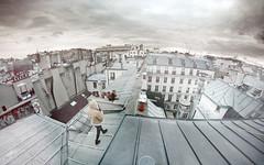 (BricePortolano) Tags: roof chimney sky cloud paris youth walking pov fisheye dreamy chemine briceportolano