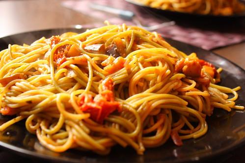 spaghete de post cu vinete