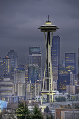 Seattle Space Needle (DiGitALGoLD) Tags: seattle buildings nikon downtown cityscape space needle spaceneedle kerrypark nikkor 70200 f28 d3 gitzotripod vrii seattlecityscape digitalgold