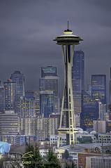 Seattle Space Needle (DiGitALGoLD) Tags: seattle buildings nikon downtown cityscape space needle spaceneedle kerrypark nikkor 70200 f28 d3 gitzotripod vrii seattlecityscape digitalgold