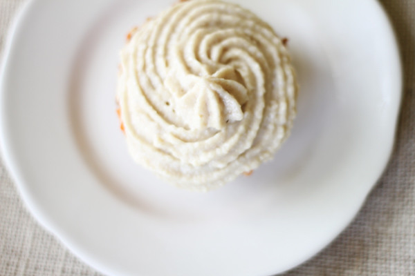 raw carrot cupcakes with cashew icing