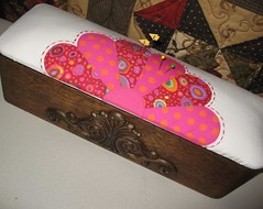 kaffe sewing box & pincushion (smorielorrie) Tags: modern sewing singer pincushion kaffe sewingboxes kaffepolkadot
