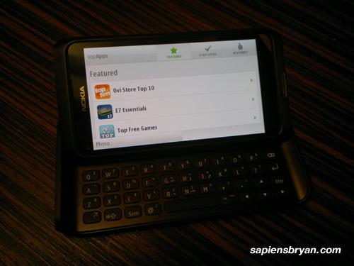 Nokia E7 Top App