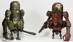 warbot5 (muffinmansculpts) Tags: world wood red robot blood war ashley vinyl robots vs custom zombies amazons repaint wwr wwrp