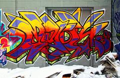 Toronto Graffiti 1804 (sniderscion) Tags: street urban toronto colour art graffiti intense paint bright vivid spray vandalism tamron f28 1750mm tamronspaf1750mmf28 colormural flickrgolfclub clanflickr