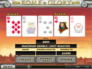 free Rome and Glory slot gamble feature