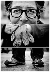 Triptychs of Strangers #10: The Photograpic Artist - Paris (adde adesokan) Tags: street travel portrait blackandwhite bw white black paris france hat pen bag photography hands frankreich shoes triptych fotograf photographer bokeh strasse voigtlander voigtlaender strangers streetphotography bob olympus stranger portrt puzzle sw saintgermain miles augen davis schwarzweiss weiss schuhe schwarz mtze voigtlnder montmarte 25mm triptic ep1 coline tryptic haare triptychs f095 streetphotographer m43 triptychon mft mirrorless triptychons microfourthirds theblackstar mirrorlesscamera streettogs triptychsofstrangers