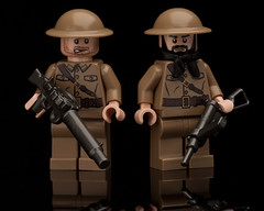 British Troops (~Ghost Soldier~) Tags: world 2 england war prototype ww2 british uniforms sten troops brickarms