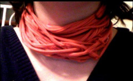 Upcycled TShirt Scarf Orange