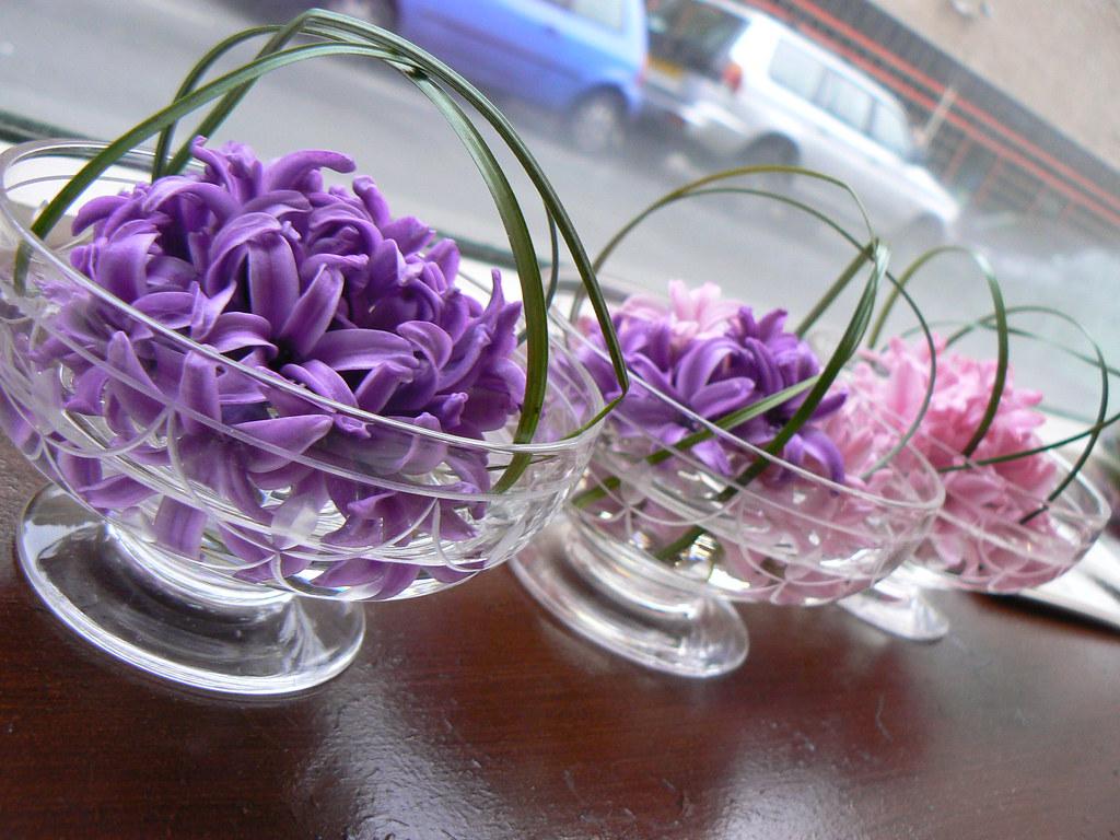 Spring Trio in Vintage Glass by FlowerDesign Scarborough