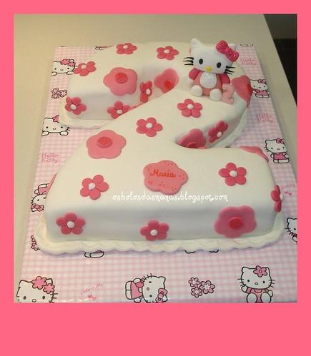 Bolo Nº 2 Baby Hello Kitty by Osbolosdasmanas