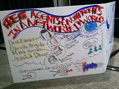 Realtime infographic at the nonprofit networking panel #netnon
