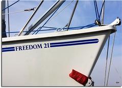 Freedom (Donna JW) Tags: boat uphill sweep bluewhite boatyard gamewinner splashofred freedom21 15challengeswinner herowinner pregamewinner