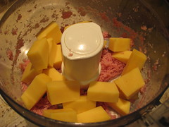 adding gouda to the ham