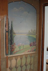 Painting hidden behind wall