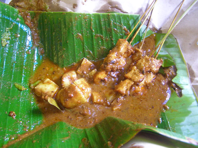 Sate Padang with Impit Rice