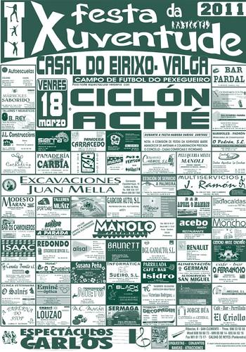 Valga 2011 - Festa da Xuventude en Casal do Eirixo - cartel
