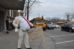 Fat Cat (miss jennifer juniper) Tags: trees winter party snow news cold building uw public rain wisconsin sisters scott workers education call university peace state tea native who brother dr 14 union protest police peaceful patriotic superman palm teacher pizza capitol solidarity walker together madison heartland american rights fox prank unions worker dane firemen patriot fabulous dictator vote republican brotherhood liar democrat recall voting senate slobs assembly wisco koch benefits mti grothman wiunion