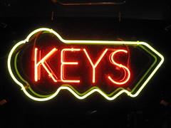 Keys (dschweisguth) Tags: sanfrancisco keys neon foundinsf gwsflexicon
