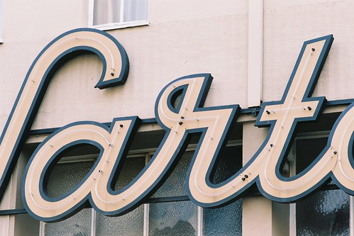 Sartory Neon Sign Detail