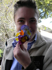 cute whitney and pansies
