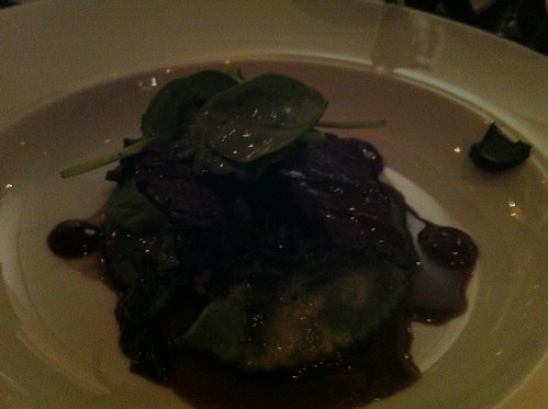 Agnolotti, anchovy butter et olives